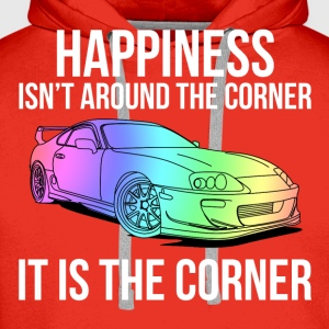 Happiness is the corner T-shirts - Premiumluvtröja herr