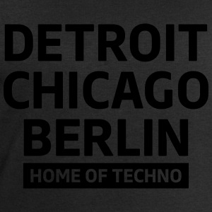 Detroit Chicago Berlin home of techno minimal Club Toppar - Sweatshirt herr från Stanley & Stella