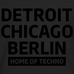 Detroit Chicago Berlin home of techno minimal Club Tops - Camiseta de manga larga premium hombre