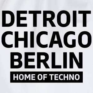 Detroit Chicago Berlin home of techno minimal Club T-Shirts - Drawstring Bag
