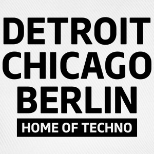 Detroit Chicago Berlin home of techno minimal Club T-skjorter - Baseballcap