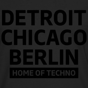 Detroit Chicago Berlin home of techno minimal Club Magliette - Maglietta Premium a manica lunga da uomo