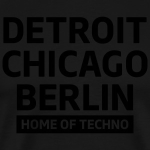 Detroit Chicago Berlin home of techno minimal Club Kookschorten - Mannen Premium T-shirt