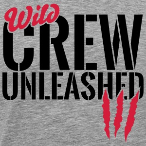 Wild crew unleashed Long sleeve shirts - Men's Premium T-Shirt