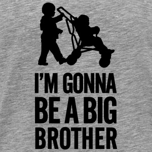I'm gonna be a big brother baby car Langarmede T-skjorter - Premium T-skjorte for menn