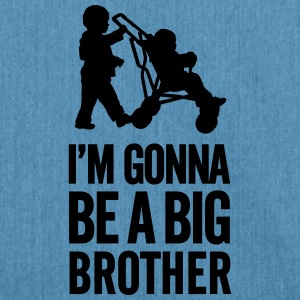 I'm gonna be a big brother baby car Shirts - Schoudertas van gerecycled materiaal