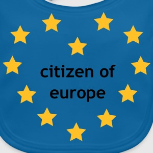 Citizen of Europe T-shirts - Ekologisk babyhaklapp