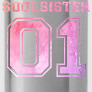 Soulsister 01 Wasserfarbe Pullover & Hoodies - Trinkflasche