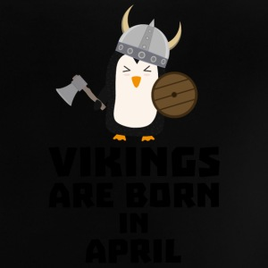 Vikings are born in April 047 Shirts - Baby T-Shirt
