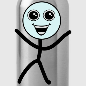 Happy smiley, stick figure Tops - Water Bottle