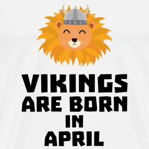 Vikings are born in April Sxa47 Baby Cap - Men's Premium T-Shirt