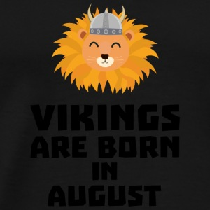 Vikings are born in August S7v9w Hoodies & Sweatshirts - Men's Premium T-Shirt