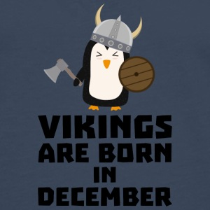 Vikings are born in December Sl9w1 Shirts - Men's Premium Longsleeve Shirt