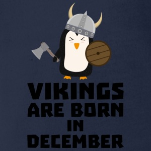 Vikings are born in December Sl9w1 Long Sleeve Shirts - Organic Short-sleeved Baby Bodysuit