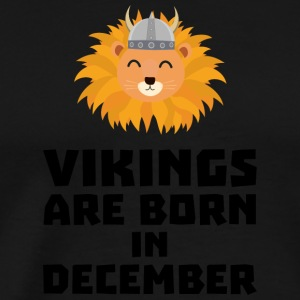 Vikings are born in December S0oki Hoodies & Sweatshirts - Men's Premium T-Shirt