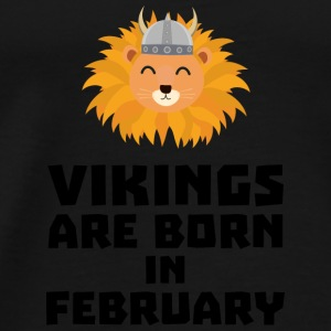 Vikings are born in February S2htp Baby Long Sleeve Shirts - Men's Premium T-Shirt