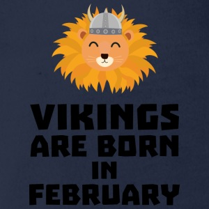 Vikings are born in February S2htp Shirts - Organic Short-sleeved Baby Bodysuit