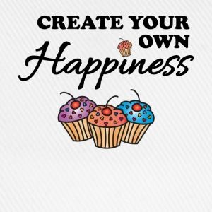 Create your own happiness Långärmade T-shirts - Basebollkeps