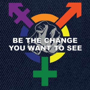 Be The Change You Want To See ( LGBT ) T-Shirts - Snapback Cap