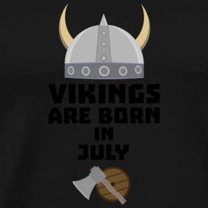 Vikings are born in July Snz0k Long sleeve shirts - Men's Premium T-Shirt