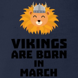 Vikings are born in March Sqjc0 Shirts - Organic Short-sleeved Baby Bodysuit