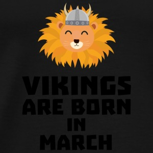 Vikings are born in March Sqjc0 Baby Long Sleeve Shirts - Men's Premium T-Shirt