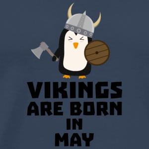 Vikings are born in May S2o7h Long Sleeve Shirts - Men's Premium T-Shirt