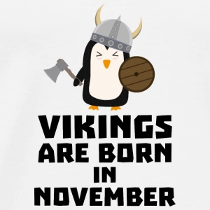 Vikings are born in November S2lmi Baby Long Sleeve Shirts - Men's Premium T-Shirt