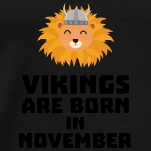 Vikings are born in November Sur82 Baby Bodysuits - Men's Premium T-Shirt