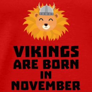 Vikings are born in November Sur82 Tops - Men's Premium T-Shirt