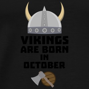 Vikings are born in October Sv005 Baby Bodysuits - Men's Premium T-Shirt