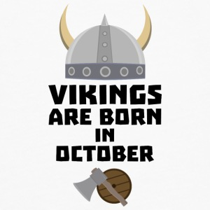 Vikings are born in October Sv005 Baby Bibs - Men's Premium Longsleeve Shirt
