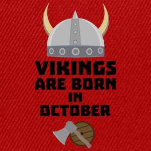 Vikings are born in October Sv005 Shirts - Snapback Cap