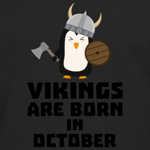 Vikings are born in October Svb06 Shirts - Men's Premium Longsleeve Shirt