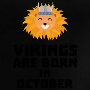 Vikings are born in October S0v8r Shirts - Baby T-Shirt