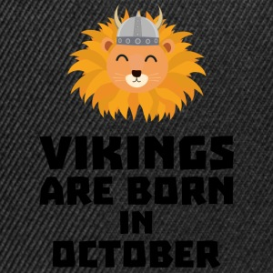 Vikings are born in October S0v8r T-Shirts - Snapback Cap