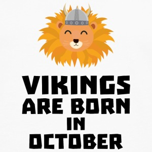 Vikings are born in October S0v8r Shirts - Men's Premium Longsleeve Shirt