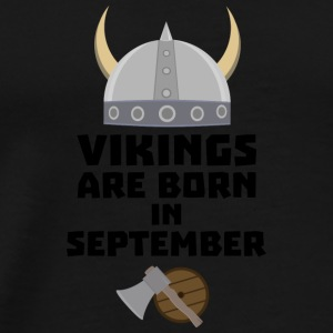Vikings are born in September Smnk2 Baby Bodysuits - Men's Premium T-Shirt