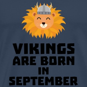 Vikings are born in September Soid8 Other - Men's Premium T-Shirt