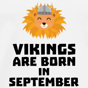 Vikings are born in September Soid8 Baby Long Sleeve Shirts - Men's Premium T-Shirt