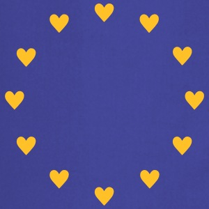 Europe Hearts, Pulse of UE, I love Europa corazón Camisetas - Delantal de cocina