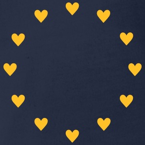 Europe Hearts, Pulse of EU, I love European Union  T-shirts - Ekologisk kortärmad babybody