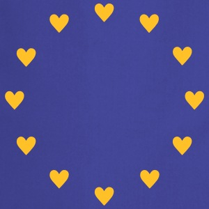 Europe Hearts, Pulse of EU, I love European Union  Koszulki - Fartuch kuchenny