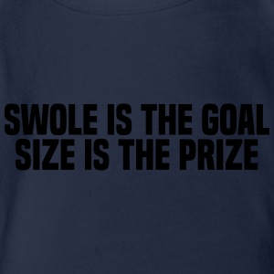 SWOLE IS THE GOAL Tee shirts - Body bébé bio manches courtes