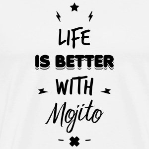 life is better with mojito Sous-vêtements - T-shirt Premium Homme