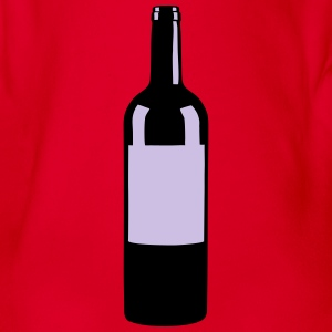 Wine Bottle Shirts - Baby bio-rompertje met korte mouwen