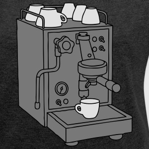 Espresso machine  3 Hoodies & Sweatshirts - Women's T-shirt with rolled up sleeves