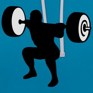 weightlifting, weightlifter, weight lifter Camisetas - Sudadera con capucha en contraste