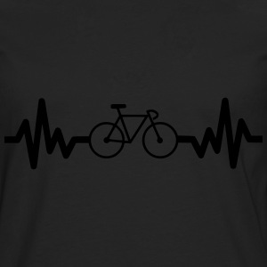 Bike is life Bicycle, bike, cycling t-shirt  - Herre premium T-shirt med lange ærmer