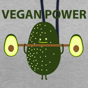 Vegan Power T-Shirts - Contrast Colour Hoodie